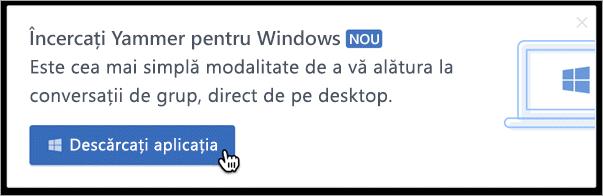 Mesagerie în cadrul produsului pentru Windows