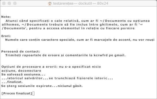 Rulați instrumentul Dockutil utilizând Control + clic pentru a deschide.