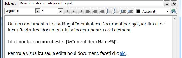 Inserare hyperlink pentru element curent 3