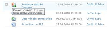 SfatEcran care apare sub pictograma fișierului extras. Acesta permite utilizatorului să știe numele fișierului și cine l-a extras.
