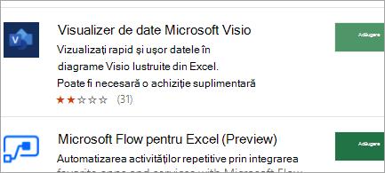 Obțineți programe de completare de Office din magazinul web