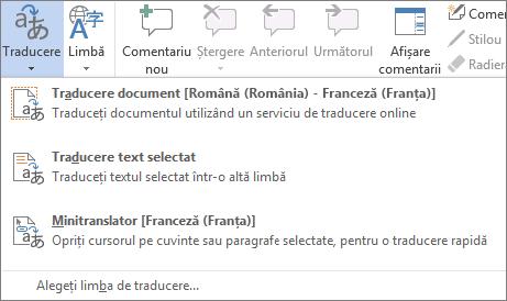 Traducerea unui document sau a unui mesaj
