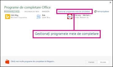 Link Gestionare programe de completare proprii