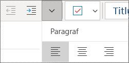 Alinierea la stânga a paragrafelor în aplicația OneNote pentru Windows 10