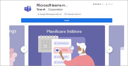 Selectați Microsoft teams pentru suita G