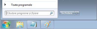 Meniul de Windows 7 Start cu caseta de căutare