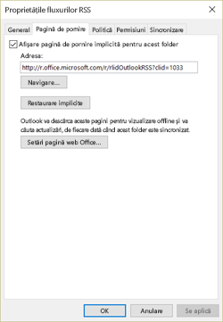 Debifați Afișare pagină de pornire implicită pentru acest folder