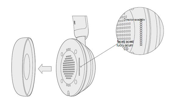 Căști USB moderne Microsoft, cu o cască eliminată