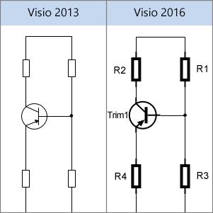 Formele electrice Visio 2013, formele electrice Visio 2016
