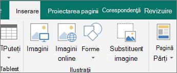 Faceți clic pe Inserare și apoi faceți clic pe imaginea substituent