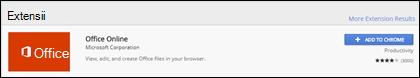 Extensia oficială Office Online în magazinul Web Chrome
