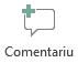 Butonul Inserare comentariu în PowerPoint Online