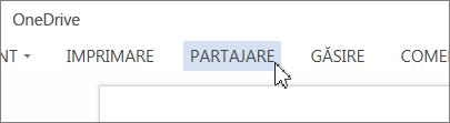 Butonul Partajare