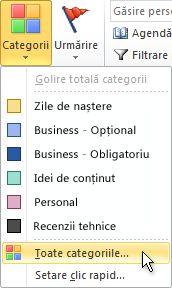 Comanda Toate categoriile din grupul Etichete