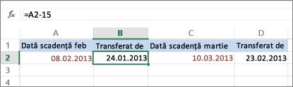 calcularea datei