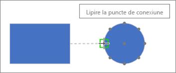 Forma țintă arată sfatul ecran: Lipire la punctul de conexiune