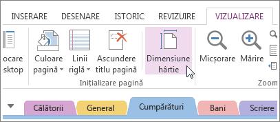 Puteți schimba dimensiunea hârtiei pentru a se potrivi șablonului pe care îl creați