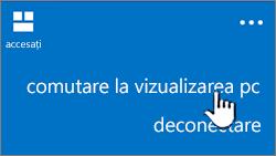 butonul pentru vizualizarea PC