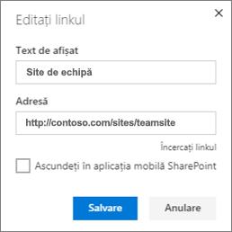 Editarea recomandată legare conținut