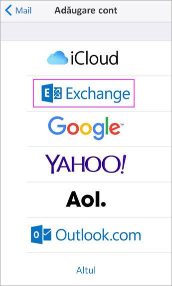 Alegeți Exchange
