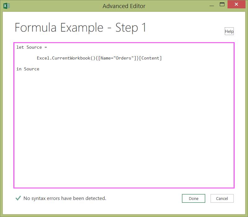 Editor complex3