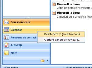 Faceți clic dreapta pe modulul pe care doriți să îl deschideți și selectați deschidere în fereastră nouă.