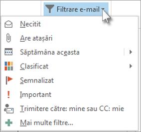 Filtrare e-mail