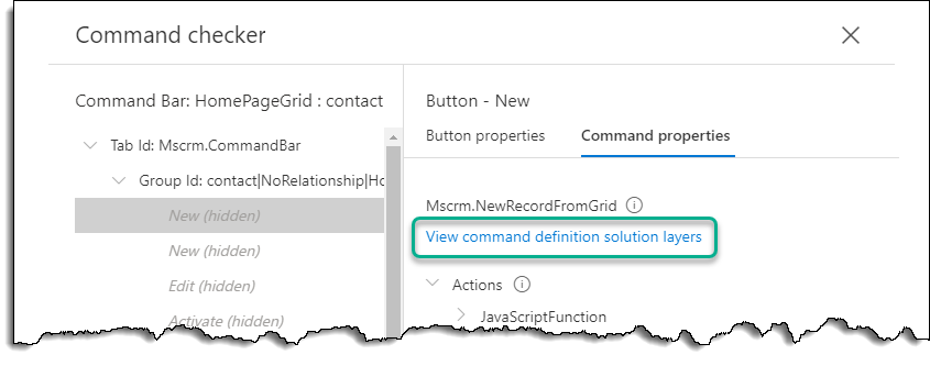 Command Checker - Contact - New Command Solution Layers Link
