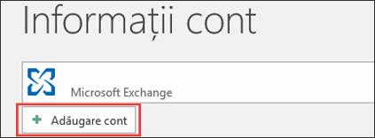Outlook 2016 - Adăugare cont