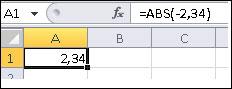 Formula este afișată în bara de formule