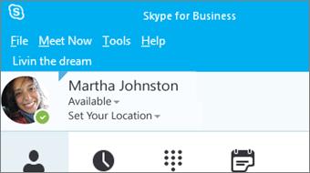 Introducere în Skype for Business 2016