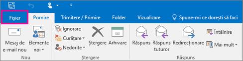 Cum arată panglica în Outlook 2016