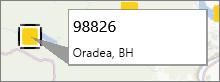 Adnotarea codului zip într-un PowerMap