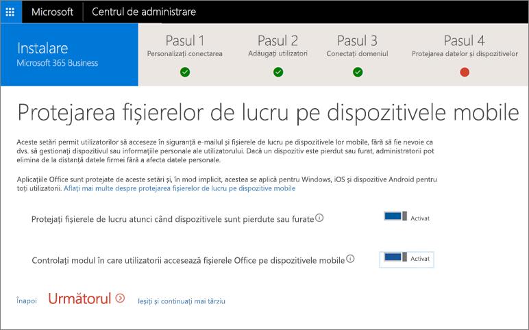 Captură de ecran a paginii Protejarea fișierelor de lucru pe dispozitivele mobile