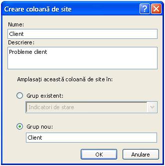 Create a Site Column dialog box