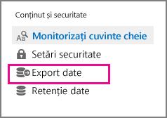 Date comanda export