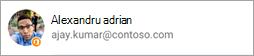 Captură de ecran afișând pictograma Office pe avatar