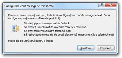 Configurare cont mesaje text