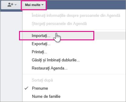 Google Gmail - faceți clic pe mai multe, importul persoanelor de contact