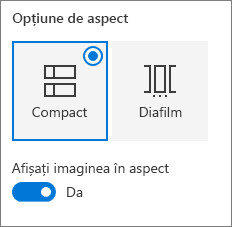 Opțiuni de aspect linkuri rapide
