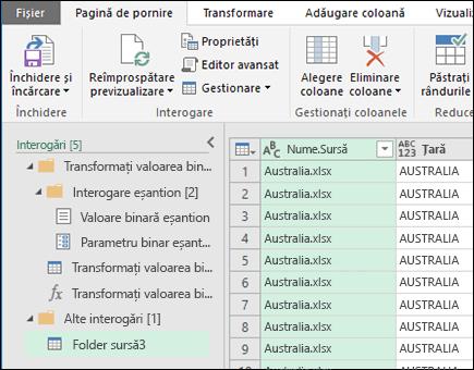 Combinarea dialog binare Preview. Apăsați pe închidere și încărcare pentru a accepta rezultatele și a le importați în Excel.