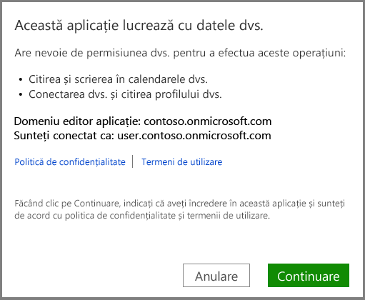 conectarea la Office 365