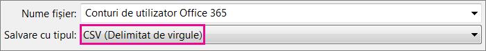 O imagine a modului în care salvați un fișier în Excel în format CSV