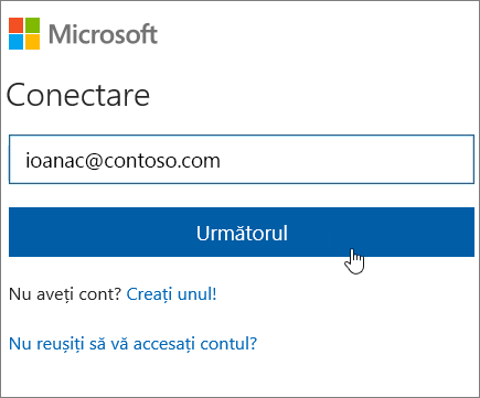 Conectare la SharePoint Online