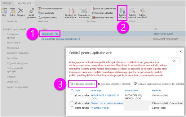 Politica pentru aplicația Web dialog