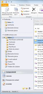 Outlook 2010 Navigation Pane