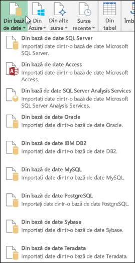 Obținerea datelor din baza de date dialog