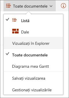 SharePoint Online vizualizări în Internet Explorer 11