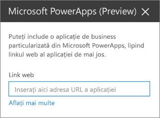 Panoul de proprietăți Power Apps