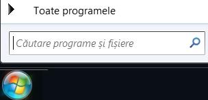 Captură de ecran cu căutarea programelor